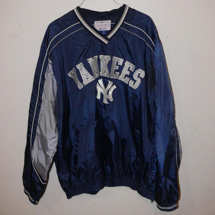 release date: 1be74 6f653 New York Yankees MLB Pullover Nylon Jacket Mens XL