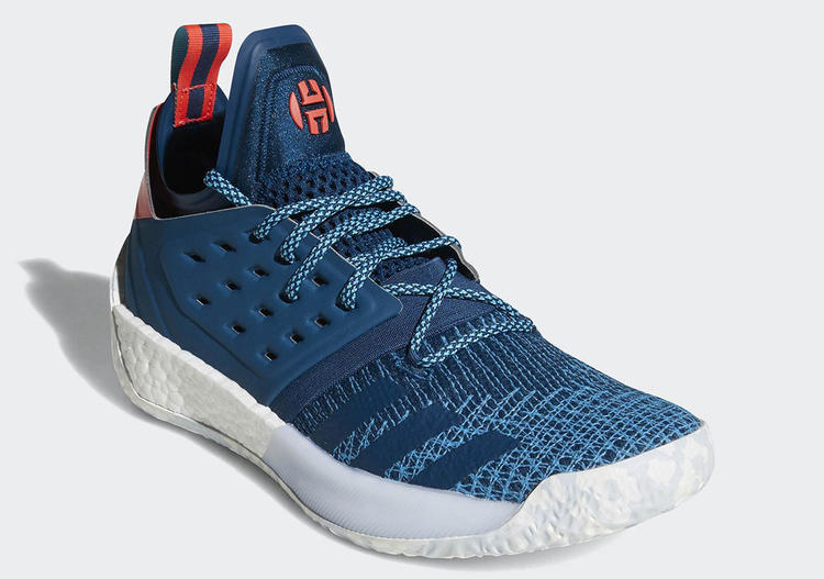 a788ffe13fb5 Adidas Harden Vol 2 Blue Night AH2216 Cyan Red PrimeKnit James Boost ...