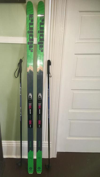 Womens Alpina Discovery Skiing Skis SidelineSwap - Alpina discovery skis