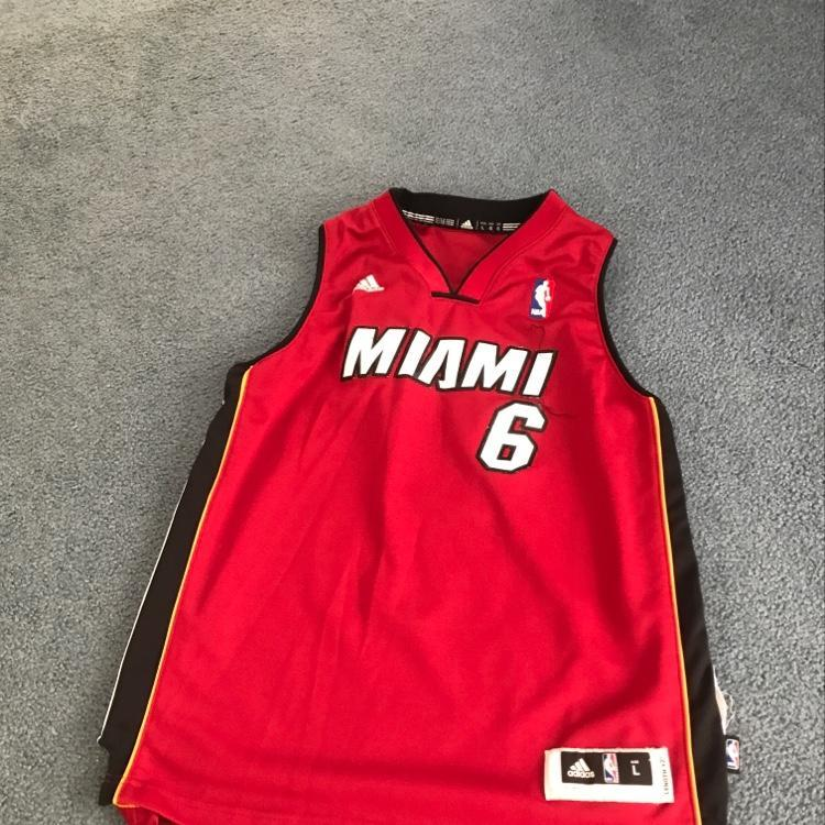 new style 86e84 b603a Miami Heat LeBron James Jersey