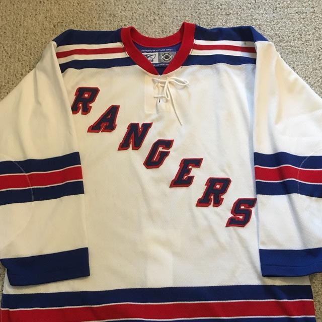 online store ac01e 7b17d Reebok Authentic 6100 Series New York Rangers Road Jersey (52)
