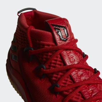 release date ace67 3cc6f ... spain adidas dame 4 scarlet red gum 400 degreez cq0186 lillard dolla  primeknit e8957 78a87