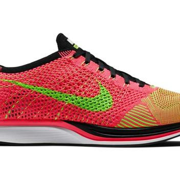 7f3c8f527c24 Nike Flyknit Racer sz 12 Hyper Punch Electric Green Volt 526628 603  Trainer. Related Items