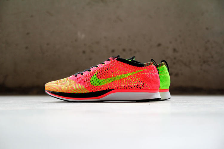 f46bbb70f69c9 Nike Flyknit Racer sz 12 Hyper Punch Electric Green Volt 526628 603 Trainer.  Related Items