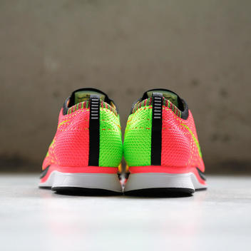 33d936805f3a Nike Flyknit Racer sz 12 Hyper Punch Electric Green Volt 526628 603 Trainer