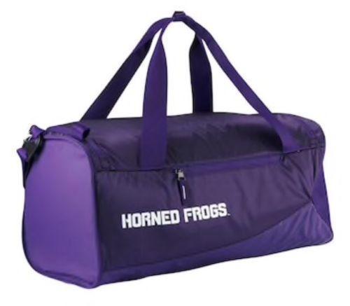 Nike Tcu Horned Frogs Sideline Vapor Air Max Duffel Bag Ba5298 568 Purple Texas