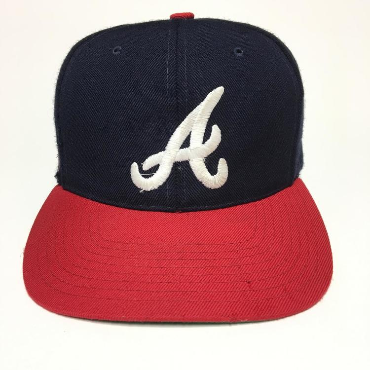 9549950e9287c Vintage Atlanta Braves Snapback Hat American Needle Blockhead. Related Items