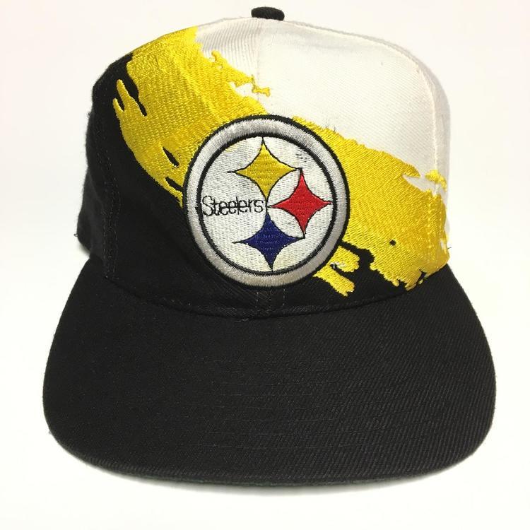 Vintage Pittsburgh Steelers Logo Athletic Splash Snapback Hat - SOLD fd18ee957d0b