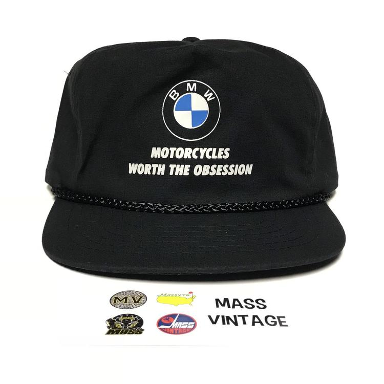 5d4345fa1949e Vintage BMW Motorcycles Nylon Strapback Hat