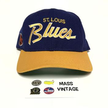 304ad145fbf  17. 7 · Vintage St. Louis Blues Fitted Script ...
