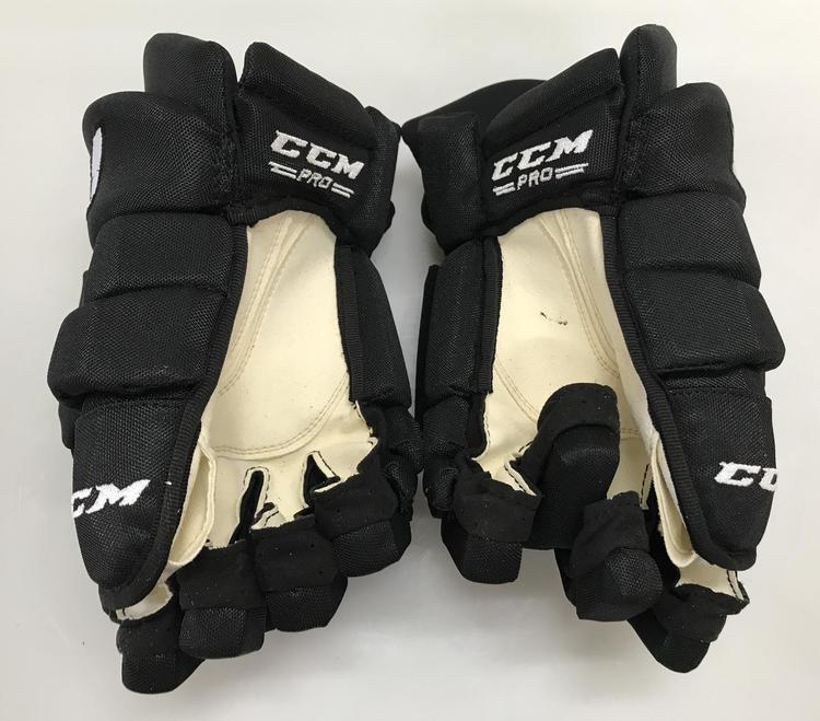 "CCM HGTK Tacks Pro Stock Hockey Gloves 15/"" LA Kings 6273"