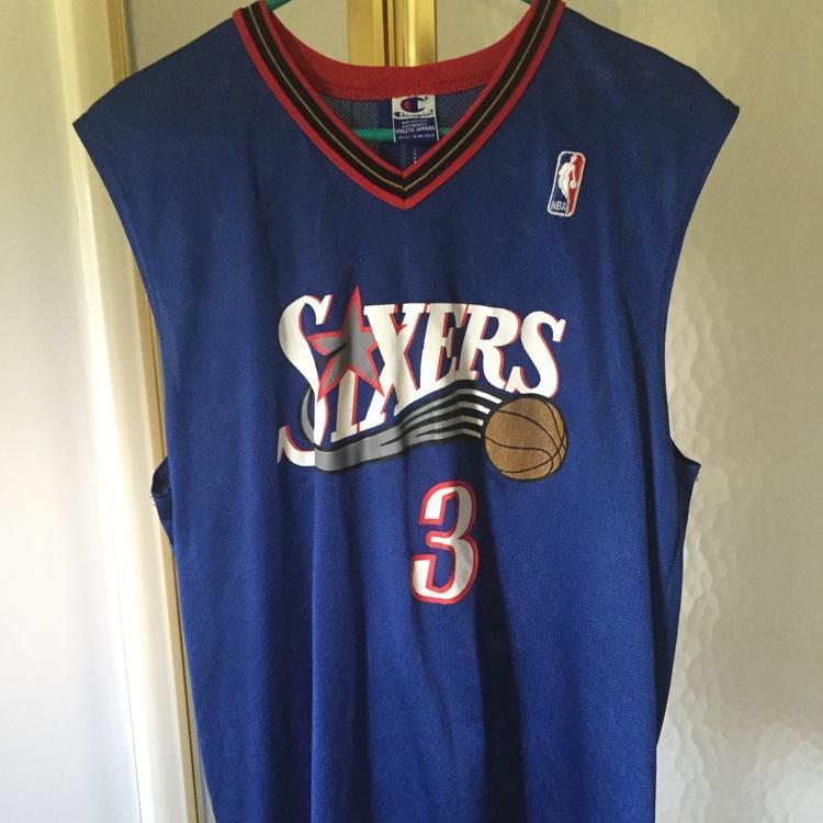 lowest price 6a493 cce2c Vintage Allen Iverson Philadelphia 76ers Jersey