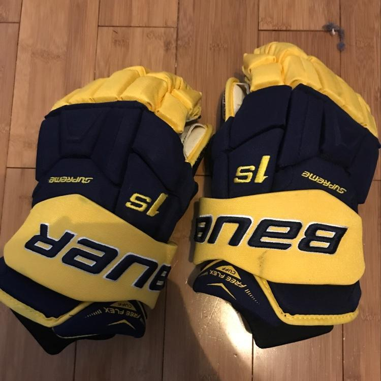 Bauer 1S Pro Stock Michigan Gloves - 14 inch