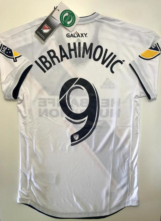 new product 6888f aa0cd NWT ADIDAS IBRAHIMOVIC LA GALAXY CLIMACOOL HOME SOCCER PLAYER JERSEY