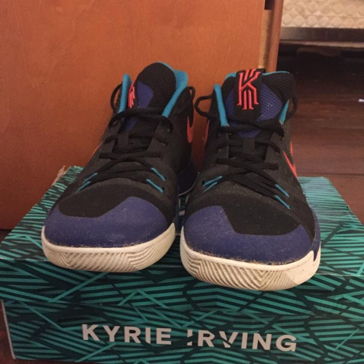 6e842abf4fb7 Nike Good Condition Men s 10.5 Kyrie 3 Black  Team Orange  Concord ...