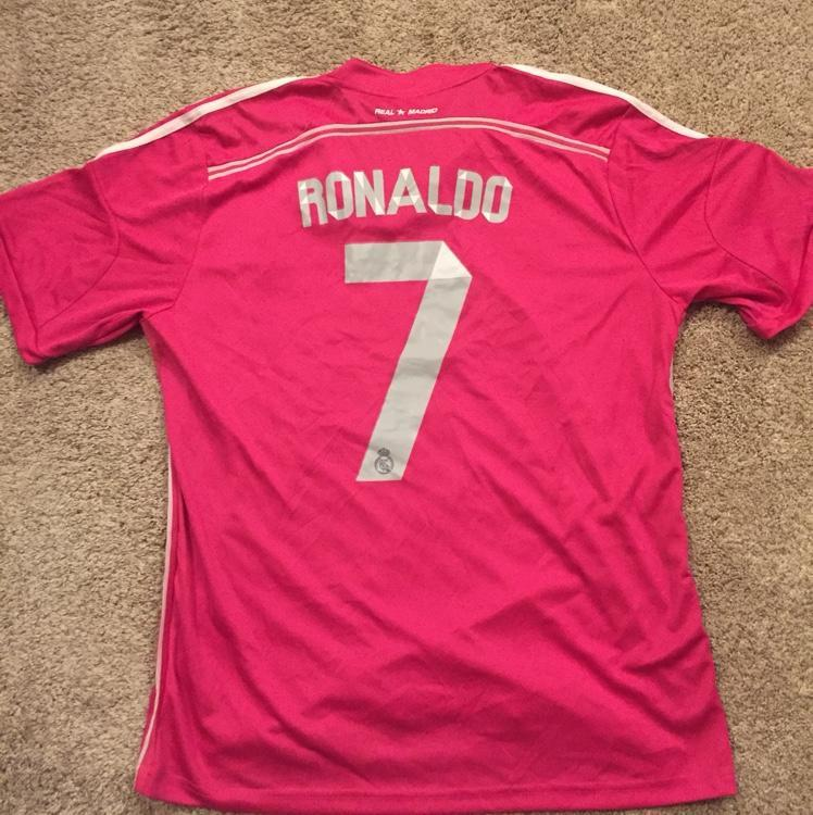 huge discount 89c00 2ce6b Christiano Ronaldo Real Madrid Pink Jersey