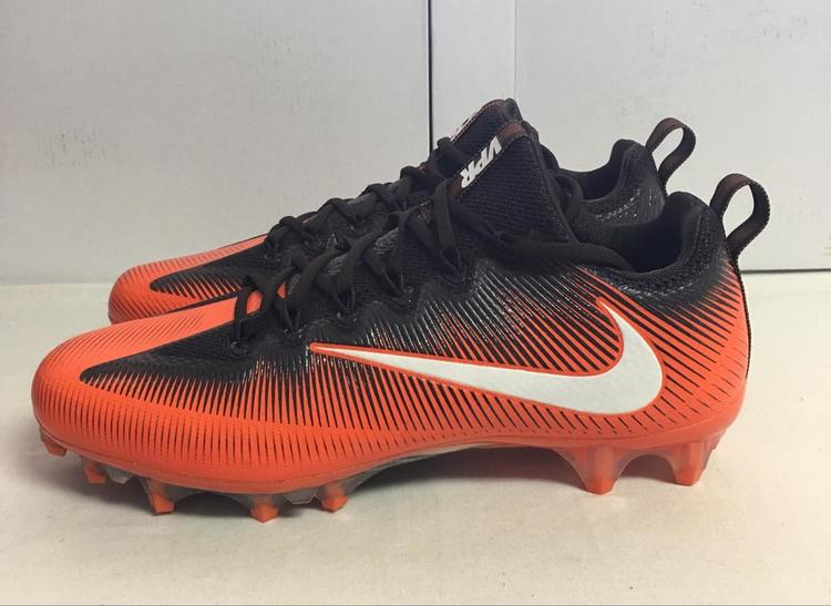 1d5dbc00089f NIKE VAPOR UNTOUCHABLE PRO FOOTBALL CLEATS BROWN ORANGE 925423-808 Size 11