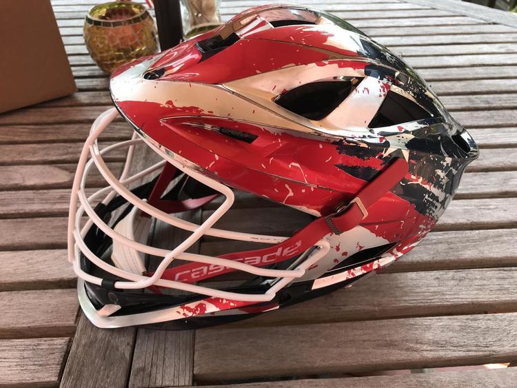 Cascade American Flag Wrap Gunmetal S Sold Lacrosse