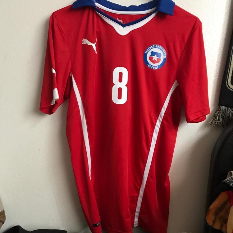 sale retailer b738c 81969 Arturo Vidal Chile Jersey