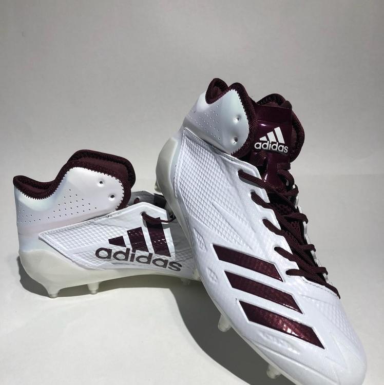 6d9d1c44996 Adidas Adizero 5-Star 6.0 Mid Size 10.5 Lacrosse  Football Cleats Maroon