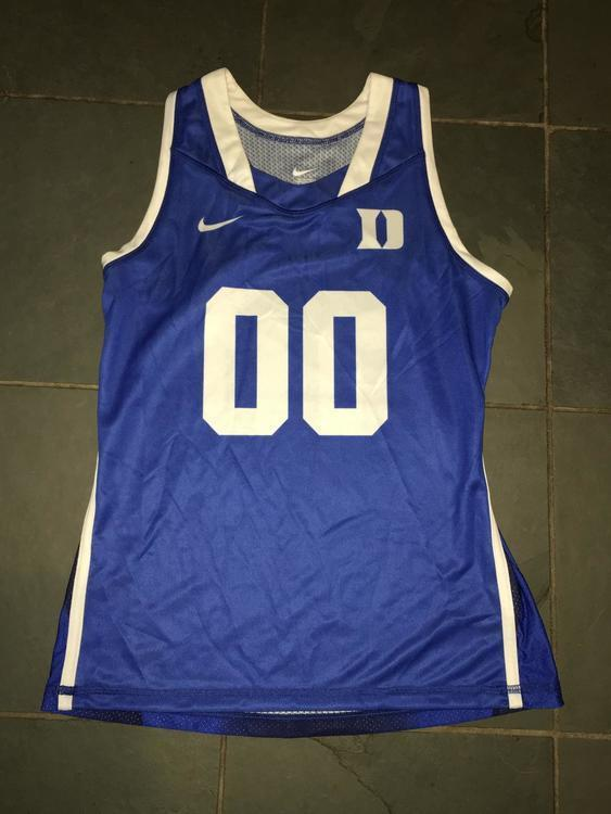 Nike New Womens Duke Blue Devils  00 Lacrosse Racerback Jersey Womens  Medium  80  b7ca23970