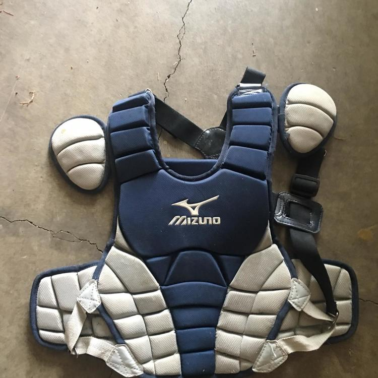 Mizuno Samurai Catchers Set Of Gear Youth 9 12 Good Condition With