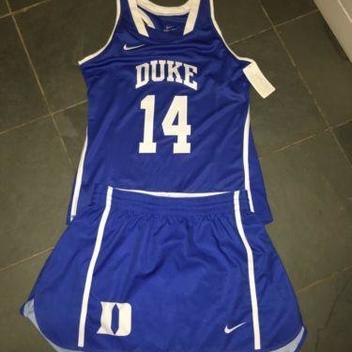 f6310e557d22d Nike New Womens DUKE BLUE DEVILS  14 SS Jersey  60   Kilt  55 Womens Medium
