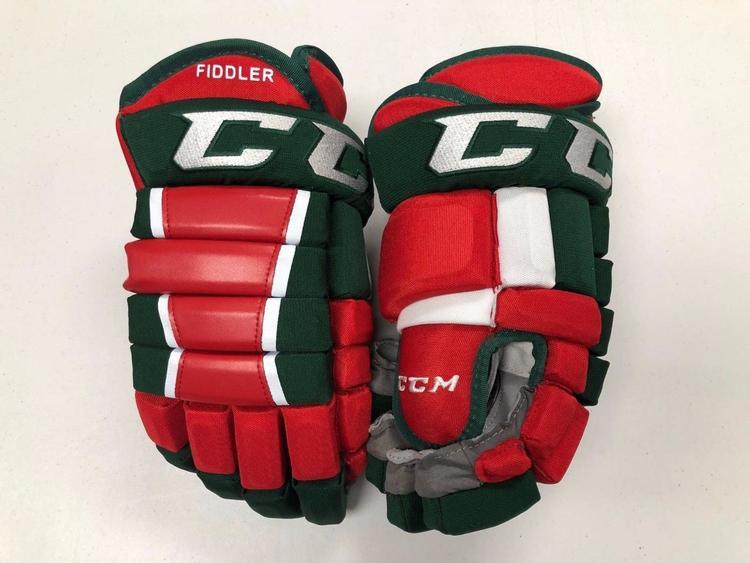 new concept 69745 95da6 NEW! CCM NEW JERSEY DEVILS RETRO NHL PRO STOCK HOCKEY PLAYER GLOVES 14