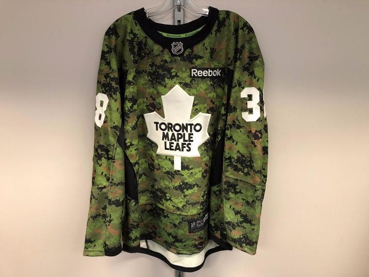 CAMO REEBOK TORONTO MAPLE LEAFS NHL PRO STOCK HOCKEY PLAYER JERSEY 56  GREENING - EXPIRED dbb8afe4ddb