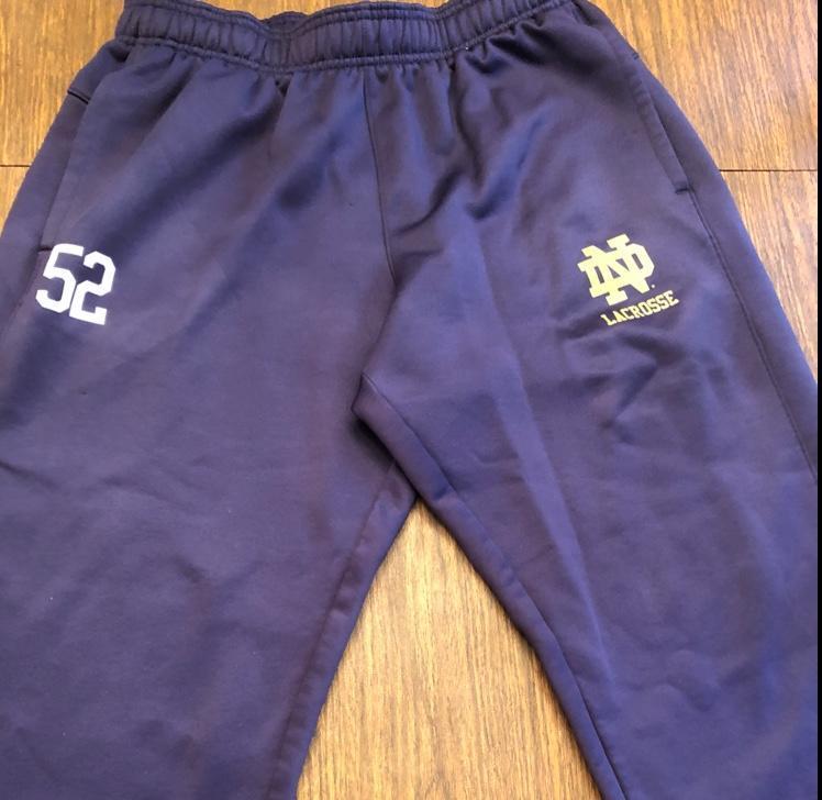 fcc51969af49 Under Armour Notre Dame Team-Issued Sweatpants | SOLD | Lacrosse ...
