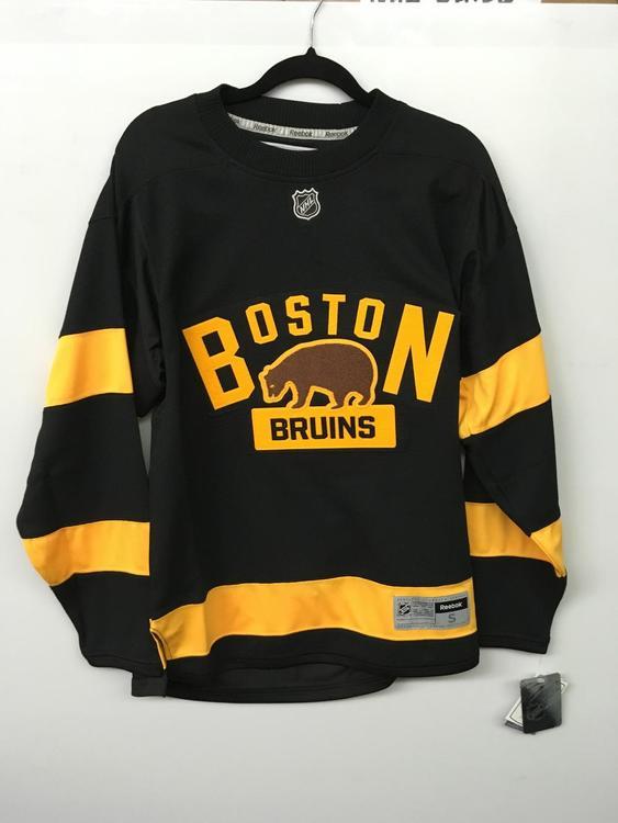 timeless design 88d68 d8063 New Reebok Black Boston Bruins Winter Classic Jersey