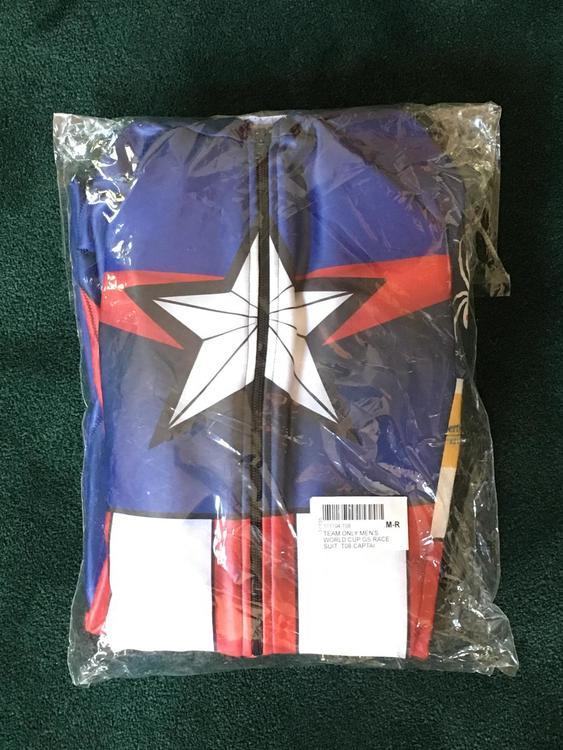 Spyder New Marvel Captain America Us Ski Team Race Suit