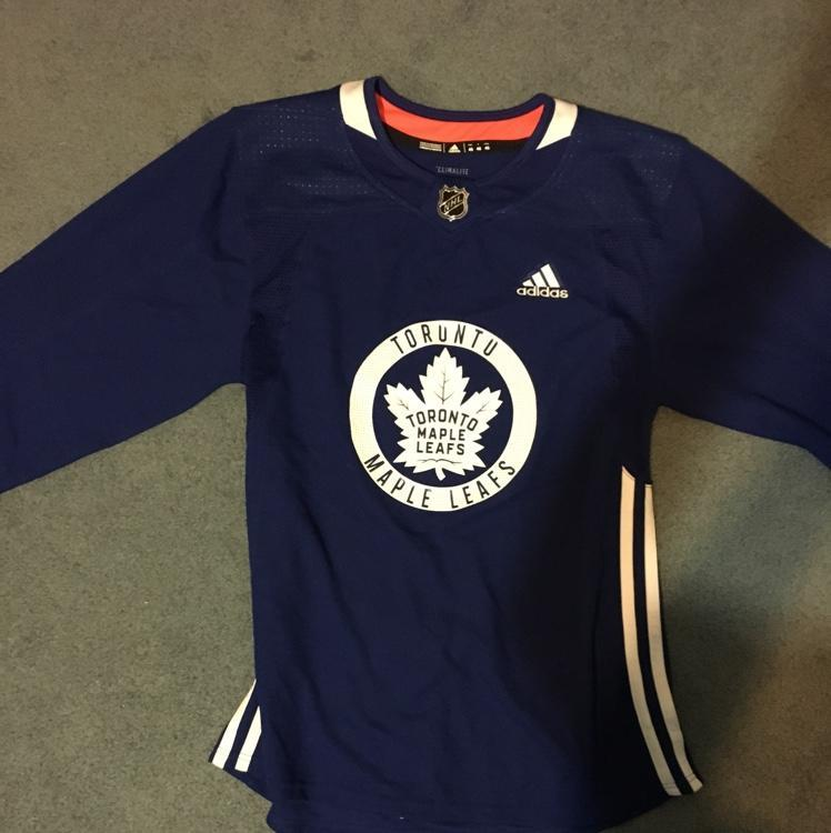 ... closeout toronto maple leafs practice jersey size 46 sold 9b6a4 56ea2 3a5e221ef