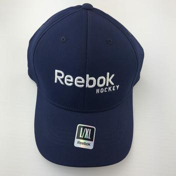 REEBOK HOCKEY CAP HAT NAVY LARGE X-LARGE FLEX - EXPIRED b1874efc6d0