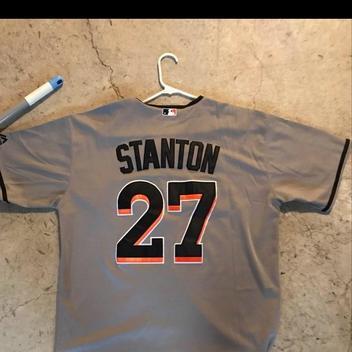 buy popular 1bc73 fc40e Giancarlo Stanton Miami Marlins Jersey (men's XLarge)