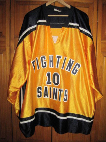Fighting Saints AAA jersey men s L   10 yellow Minnesota junior ... 2c7b52971b5