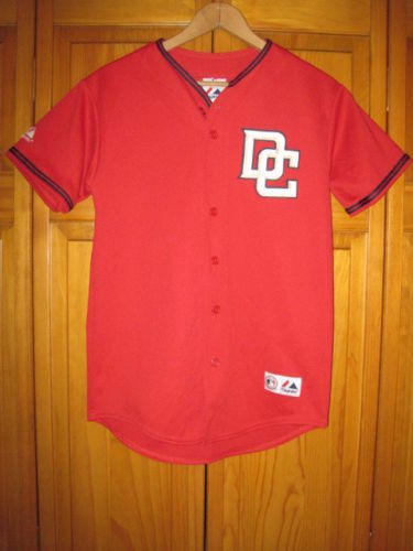 Authentic Washington Nationals jersey kids boys L red Majestic MLB ... 7eab19f43