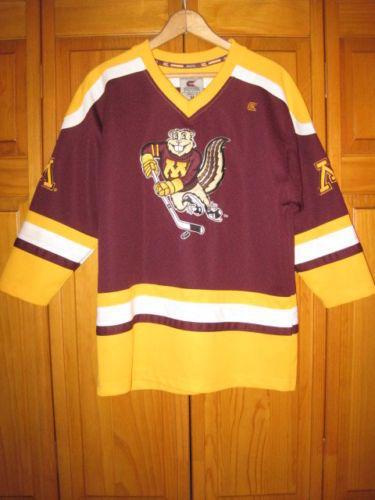 Minnesota Golden Gophers college hockey jersey kids boys M 12 14 maroon fc38323c1ce