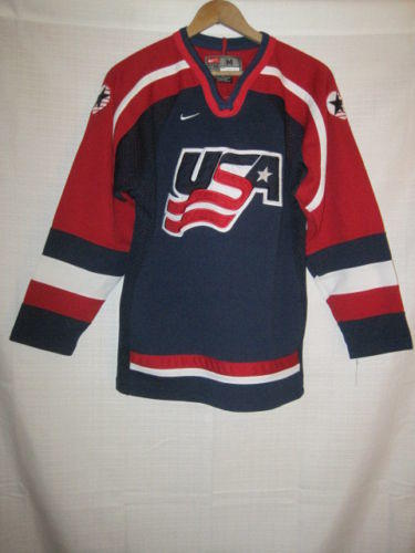 Vintage Team Usa Nike Olympic Jersey Kids Boys M Blue World Junior