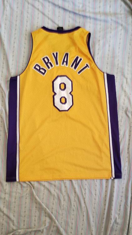0e80a37ae246 ... netherlands authentic kobe bryant 8 los angeles lakers nike jersey size  xl length 2 e5a91 2fc5d