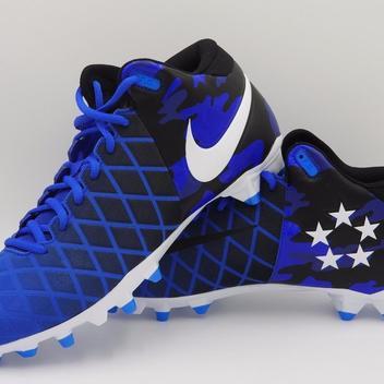 a93b54d23 Nike Field General Pro TD Mid Cleats Blue Black