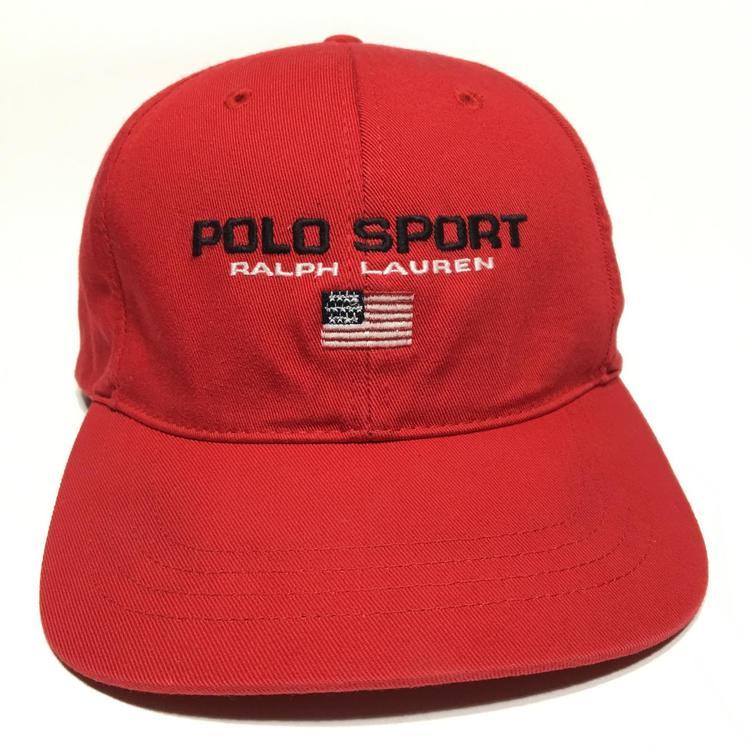 3732259c6fdd1 Vintage Polo Sport Strapback Hat Ralph Lauren