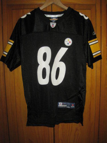 new style dac73 d8d0f On Field Pittsburgh Steelers Hines Ward Reebok football jersey kids boys L
