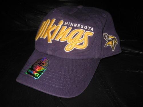 Minnesota Vikings baseball hat cap purple Forty Seven 47 Brand NWT NEW  6cc622d7994