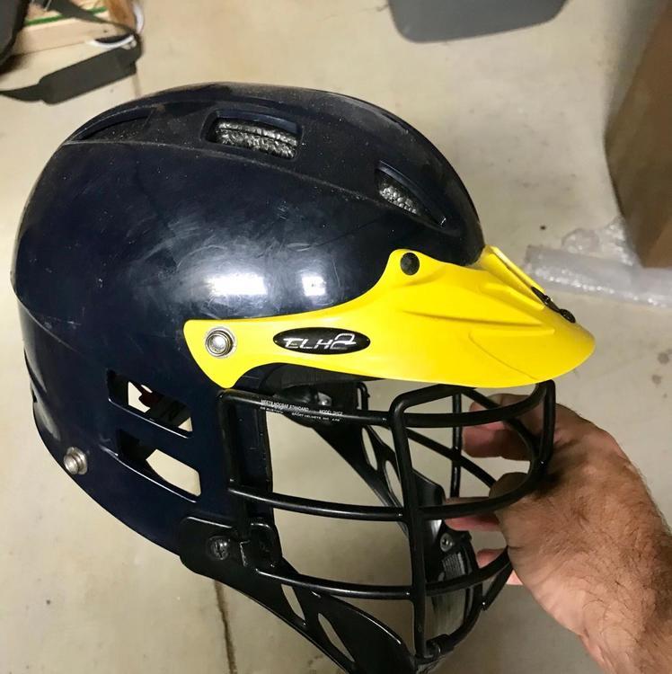Cascade Helmet Clh2 Navy W Yellow Chin Size Xs Lacrosse Helmets Sidelineswap