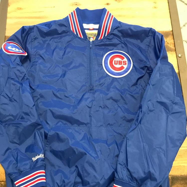 wholesale dealer ab72e 1ce9c Chicago Cubs (Mitchell & Ness) ZIP Up Pullover Jacket
