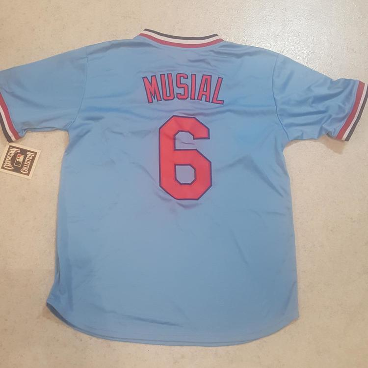 the latest dbad3 439a4 Stan Musial Jersey - Majestic