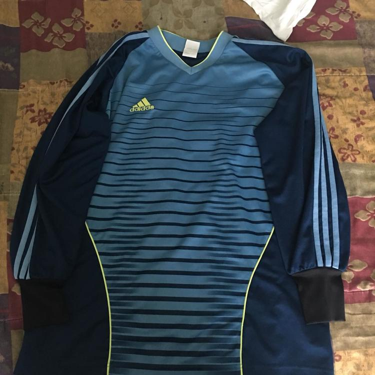 bdd24649ff1 Adidas Navy Goalkeeper Jersey #0 (Adult Medium) | Soccer Apparel ...