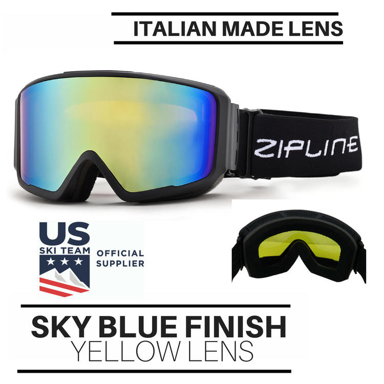 ef3b2b6bc5e Zipline Podium CL Ski Snowboard   Snowmobile - Yellow Lens Sky Blue Finish