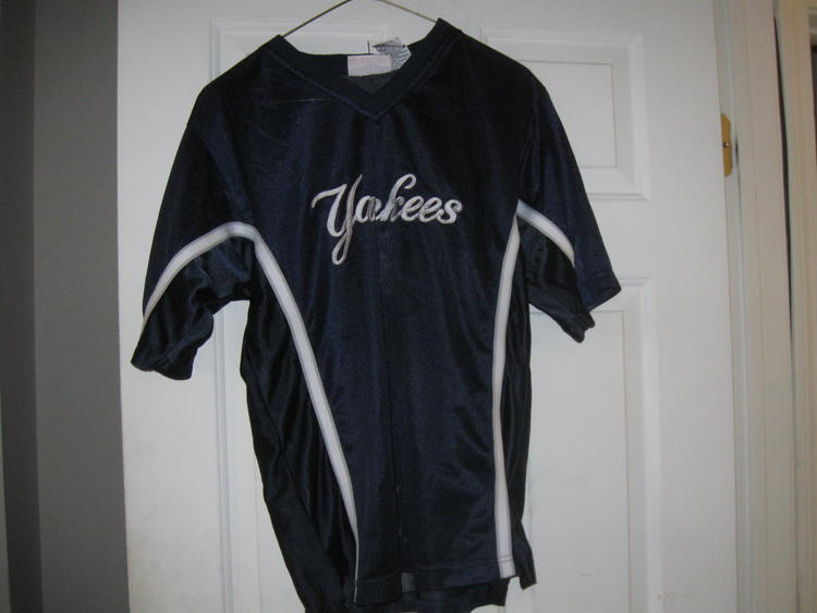 the latest cf183 44f1d NY YANKEES YOUTH JERSEY(L 14/16)EMBRIODED ! PLAYOFFS!